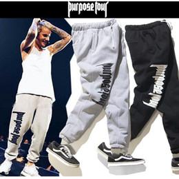 Wholesale Fitness God - Wholesale- Fear Of God Sweat Pants For Men Hip Hop Cotton Fear Of God Joggers Men Justin Bieber Drawstring Tracksuit Fitness Jogger Pants