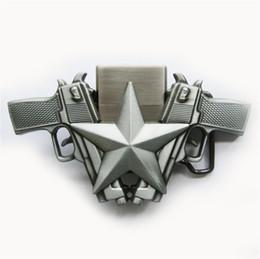 Wholesale Lighter Belts Buckles - Men Belt Buckle New Vintage Guns Star Lighter Belt Buckle Gurtelschnalle Boucle de ceinture BUCKLE-LT018AS Brand New