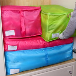 Wholesale Breast Holder - Blue Red Delicate Hot New Storage Box Portable Organizer Non Woven Clothing Pouch Holder Blanket Pillow Underbed Storage Bag Box