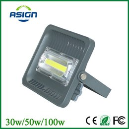 Wholesale Wall Fitting Lights - Wholesale-LED Flood Light Reflector IP66 30W 50W 100W 220V 110V Waterproof LED Spotlight Fit For Outdoor Wall Lamp Garden Projectors