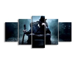 Wholesale Cheap Wall Picture - 5 Panel gentleman Painting Canvas Wall Art Picture Home Decoration Living Room Canvas Print Modern Painting--Large Canvas Art Cheap SD-004
