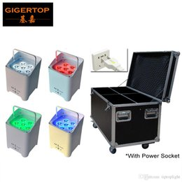 Wholesale Par Led Rgbaw - 4IN1 Charging Flight Case Packed with Power Socket TIPTOP Freedom Par 6 6W 6IN1 hex-color (RGBAW+UV) LED Par with built-in D-Fi transceiver