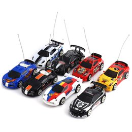 Wholesale Toy Car Rechargeable Battery - Wholesale- Mini CREATE Toys Cars Coke Can Racing Car High Speed RC Cars Built-in Rechargeable Battery Remote Control Car Toy Gifts for Kids
