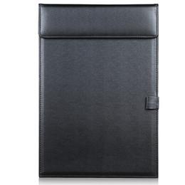 Großhandels-Magnetic Office Desktop Leder A4 Datei Büroklammer Ordner Zeichnung schreiben Clip Board Tablet Pad mit Stifthalter schwarz A206 von Fabrikanten