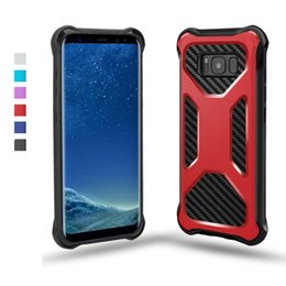 Wholesale cell galaxy s - For Samsung S8 Case Sale Carbon Fiber TPU Shock Absorption Armor Cell Phone Covers for iPhone 7 Plus 6 s Galaxy S8 Plus