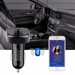 Wholesale Micro Sd Card Pen - Super Bluetooth Car Kit Handsfree Set FM Transmitter MP3 music Player 5V 4.1A Dual USB Car charger Support Micro SD Card 1G-32G