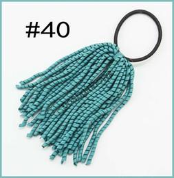 Wholesale Ponytail Streamers - free shipping 50pcs 1 8'' korker ribbon hair bows ponytail holder streamers Girl Hair Bow Corker Ponytail Streamers