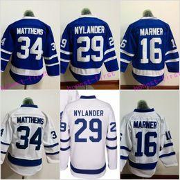Wholesale Toronto Maple Leaf Jerseys - 2017 Youth 34 Auston Matthews Jersey Toronto Maple Leafs 16 Mitchell Marner 29 William Nylander Stitched Embroidery Logos Hockey Jerseys