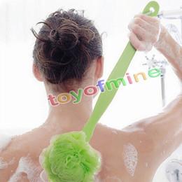 Wholesale Plastic Scrubbers - 1 Pcs Long Handle Hanging Soft Mesh Back Body Bath Shower Scrubber Brush Sponge