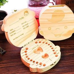 2019 caixa de lembrança do bebê Caixa de armazenamento de dentes de bebê caixa de armazenamento de artesanato em madeira natural para crianças dente lembrança Home decor figurine HWD22 desconto caixa de lembrança do bebê