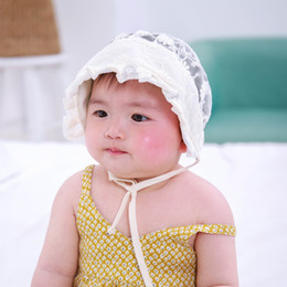 Wholesale Baby Shooting - 3 Styles New HOT SELLING Cute Baby Summer Hat Newborn Lace Hats Newborn Photography Props Beanie Photo Shoot Gorro 0-3 Months