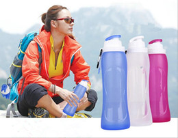 Wholesale Foldable Bottle Bpa - bpa free Safe best nalgene OTF foldable water bottle reusable personalised foldable drink bottles for kids wholesale JF-600