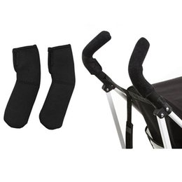 Wholesale Neoprene Handles - 2 pcs Lot Neoprene Baby Stroller Grip Cover Carriages Poussette Handle Protector Cover Stroller Accessories