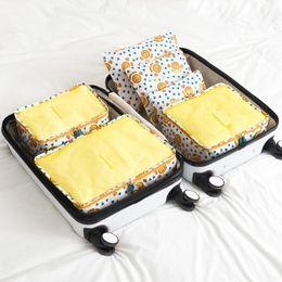 Wholesale Sack Pack Women - Travel Packing Cubes Nylon Organizers value 6pcs Set storage bags