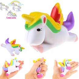 Wholesale Cute Bread - Cute Squishy Unicorn Toys Slow Rising Kawaii Cellphone Straps Pendant Simulation Bread Cake Stress Reliever Toys Gift