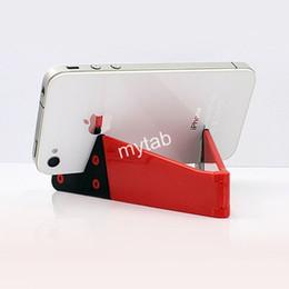 Передвижные двойные стенды онлайн-Универсальная V-образная складная подставка для мобильного телефона Кронштейн для планшетного ПК Складная подставка для двух ножек для iPad iPhone Smartphone