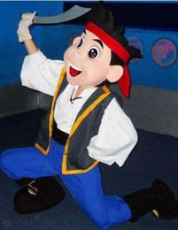Wholesale Neverland Pirate Mascot - Jake Pirate Mascot Costume Inspired by Jake and the Neverland Pirates Birthday