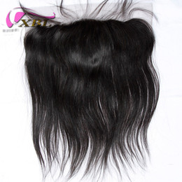 Wholesale Silky Frontal - XBL Silky Straight Lace Frontal Human Hair Closure Free Middle Three Part Lace Frontal Within Lace Size 13*4.5