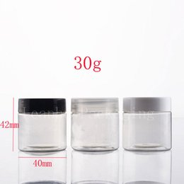 Wholesale Cosmetic Tin Cans Wholesale - 30g empty transparent cosmetic container jars for cream packaging , 1oz ointment cream tin containers, cream box can for salve