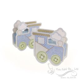 Wholesale Box Carriage - Wholesale-2016 New Baby Shower Box Lovely Baby Carriage Favor Box Baby Shower Favors Party Gift Box,Candy Box,Party Favour (Set Of 12)