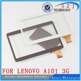 Wholesale Glass Tablet Lenovo - Wholesale- Original 10.1'' inch Touch Screen Panel Digitizer For Lenovo S6000 - A101 3G Quad core Tablet MTK6582 Glass Sensor Free Shipping