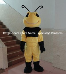 Wholesale Make Bee Costume - ant mascot costume adult size free shipping, carnival party bee mascot costume oem, can customize Logo