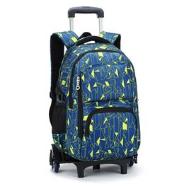Wholesale New Style Laptops - New Style Kids Trolley Backpack Fashion Roller Knapsack Children Students Rolling Backpack School Bag Laptop Bag ZF0419
