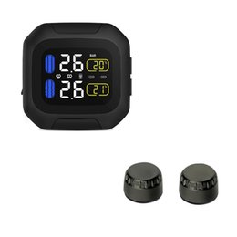 Wholesale Motorcycle Sensor - M3-WI Wireless Car TPMS Motorcycle Tire Pressure Monitor System With 2 External Sensors Waterproof LCD Display Moto Auto Tyre Alarm Systems