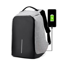 Wholesale Travelling Notebook - Multifunction Anti-theft Laptop Notebook Backpack With USB Charging Port Oxford fabric Large Capacity Hidden Zipper Travel Backpacks