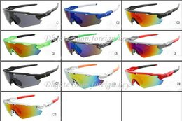 Wholesale Popular Bicycle - popular fashion sunglass Men's Women's Bicycle sunglasses outdoor sport googel Glasses fast ship Mix color order