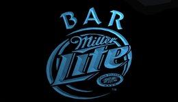 Wholesale Miller Lite Beer Neon Light - LS728-b-Miller-Lite-Bar-Beer-Neon-Light-Sign.jpg Decor Free Shipping Dropshipping Wholesale 6 colors to choose