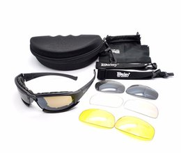 Wholesale Military Kits - New Daisy X7 Army MILITARY Men Sunglasses American Male 4 Lens Kit For Men's War Game Tactical Glasses Outdoor