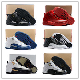 Wholesale Fabric French - Cheap Basketball Shoes Retro 12 XII Women Men Gs Black Red Authentic Retro 12s French Blue 12s The Master Shoes Sports Shoes