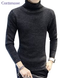 Wholesale Slim Fit Cashmere Sweater - Wholesale- 2016 Winter Thick Warm 100% Cashmere Sweater Men Turtleneck Men Brand Mens Sweaters Slim Fit Pullover Men Knitwear Double collar