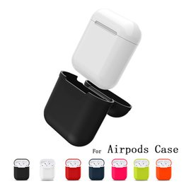 Wholesale Iphone Accessories Silicone Case - for Apple Airpods Charger Case Soft Silicone Air Pods Case WaterProof Cover for iPhone 7 Accessories Airpods Charging Cover