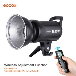 Wholesale Flash Photo Video - Wholesale-Godox SL-60W 5600K 60W High Power Strobe Flash LED Video Light Wireless Remote Control with Bowens Mount for Photo Studio