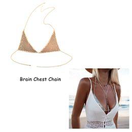 Wholesale bra jewelry accessories - Fashion Accessories Sexy Ladies Summer Beach Chest Bra Chain Women Girls Charming Body Jewelry Belly Chains Harness