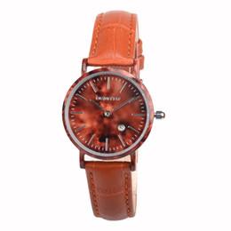 Wholesale Unique Watches For Ladies - Unique Fashion Women Leather Watches Quartz Wristwatch for Ladies with Leather Band Simple Round Dial W1059AL