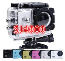 Wholesale Sports Hd Waterproof Dv Camera - sport camera action new SJ4000 freestyle 2inch LCD 1080P HD HDMI action camera 30 meters waterproof DV camera sports helmet SJca