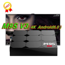 Wholesale Play Install - M9S V3 android 6.0 tv boxes RK3229 KDplayer 17.3 installed 4K HDR H.265 HEVC 3D Movies play Private model 1GB 8GB WIFI Internet TV Box