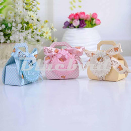 Wholesale Candy Bags For Wedding Shower - Wholesale-Hot Sale 12Pcs Baby Shower Favors Candy Box 3 Color Baby Shower Decorations Gift Bags For Boy And Girl