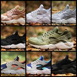 Wholesale Rose Gold Spikes - 2017 Air Huarache I Running Shoes For Women Men,Mens Green Rose Gold White Triple Black Huaraches 1 Sports Sneakers Trainers Huraches Shoe