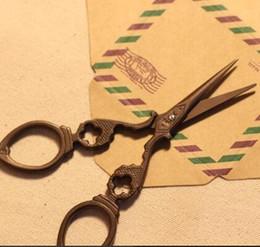 Canada Pratique Antique Ciseaux À Coudre Zakka Vintage Stripe Creux Coudre Fournitures 3Cr13 Acier Offre