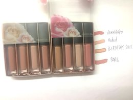 Wholesale Nude Love - ( in stock)Free Shipping DHL !! new makeup mix mini pink love  nude love collection liquid matte lipstick 4pcs   box
