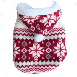 Wholesale Dresses Ornaments - Estrella Pet Dog Snowflake Shape Cloth Lovely Fashion Puppy Coats Cat Dog Warm Cloth Free Shipping