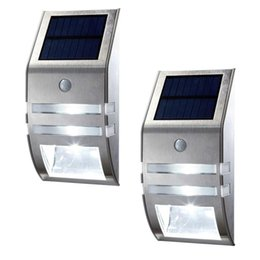 Wholesale Driveway Led Light - Solar Light Wireless Bright Solar Powered Motion Sensor Light Street Outdoor Security Light For Patio Deck Yard Garden Home Driveway Stairs