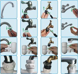 Wholesale Ceramic Water Filters Wholesalers - Household Faucet Tap Water Filter Purifier High Tech Ceramic Valve Core Fuller Faucets Strainer Removable Hydrovalve Percolator New 11 7zl A