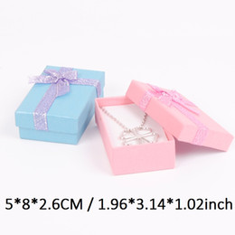 Wholesale Necklace Packing - 12-Packed gift bags boxes for small jewellery box favor boxes for necklace box or ring 5*8 cm