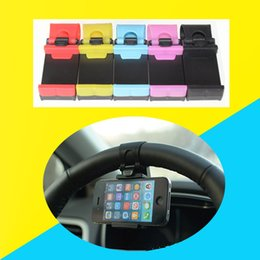 Wholesale Product Width - Wholesale 82 MM Width Of Electronic Products Steering Wheel Frame Car Steering Wheel Bracket Extensible Car Phone Holder Mount Phone Holder
