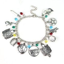 Wholesale Vampire Bracelet Charms - 2017 New The Vampire Diaries Metal Cosplay Charm Bangle Bracelet Unisex For Collection Product